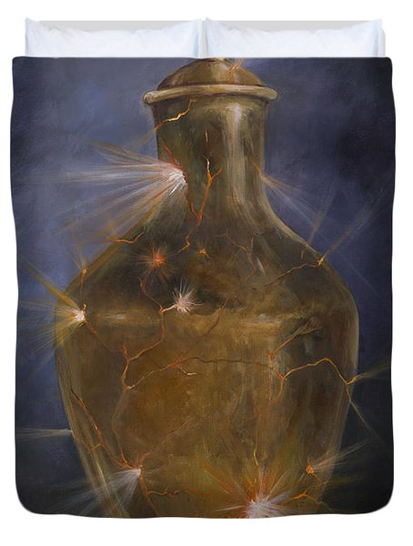 Broken Vessel Duvet Cover by Deborah Smith