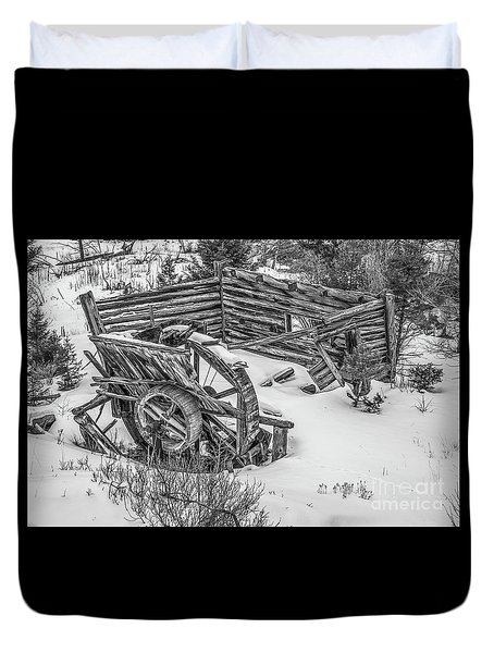 Broken Water Wheel Duvet Cover by Sue Smith
