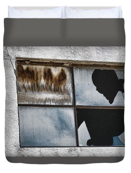 Broken Window Broken Glass Duvet Cover