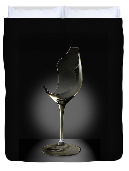 Broken Wine Glass Duvet Cover by Yuri Lev