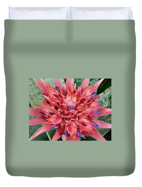 Duvet Cover featuring the photograph Bromeliad by Jean Noren