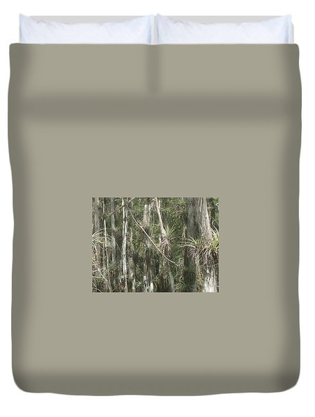 Bromeliads On Trees Duvet Cover