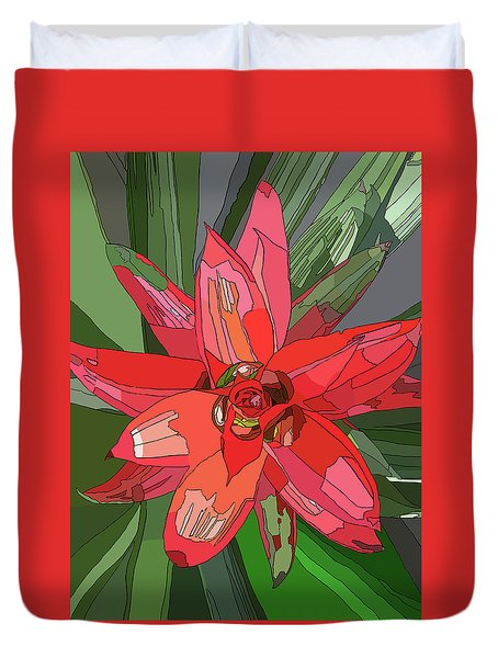 Bromiliad Duvet Cover by Jamie Downs