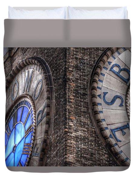 Bromo Seltzer Tower Clock Face #2 Duvet Cover