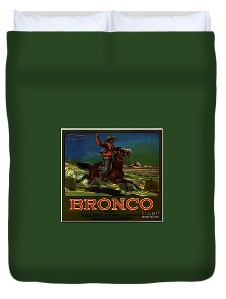 Bronco Redlands California Duvet Cover