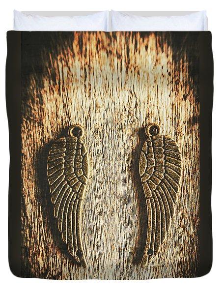 Bronze Angel Wings Duvet Cover