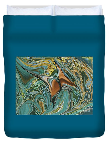 Bronze Butterfly Duvet Cover