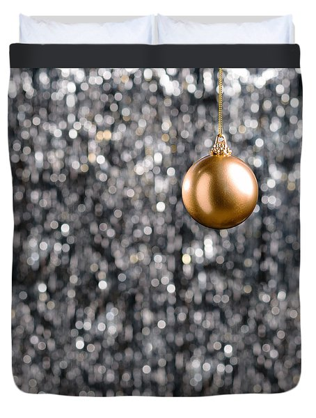 Duvet Cover featuring the photograph Bronze Christmas  by Ulrich Schade