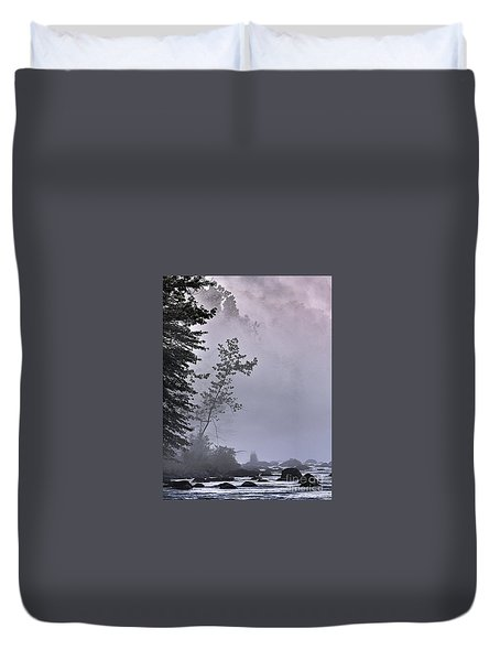 Brooding River Duvet Cover by Tom Cameron