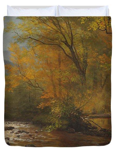 Brook In Woods Duvet Cover