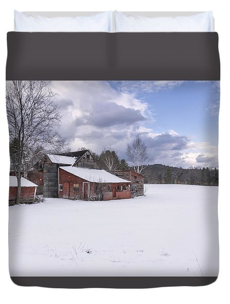 Brookline Winter Duvet Cover by Tom Singleton