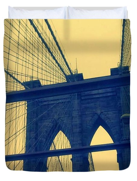 New York City's Famous Brooklyn Bridge Duvet Cover