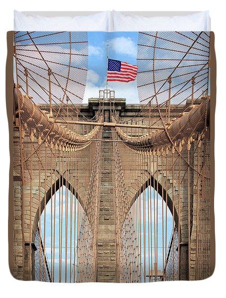 Duvet Cover featuring the photograph Brooklyn Bridge 2  by Emmanuel Panagiotakis