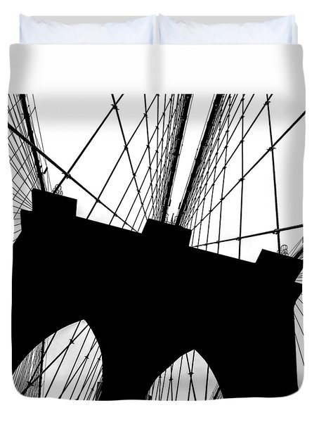 Brooklyn Bridge Architectural View Duvet Cover by Az Jackson