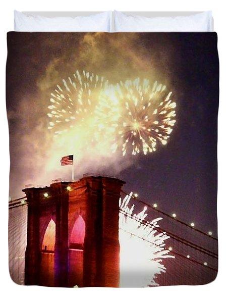 Brooklyn Bridge Celebration Duvet Cover