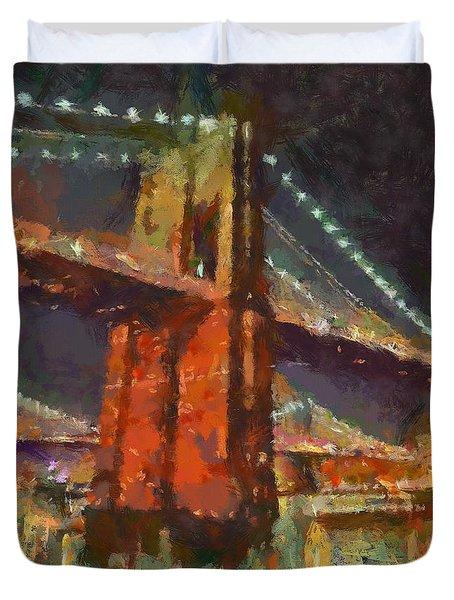 Brooklyn Bridge Duvet Cover by Dragica  Micki Fortuna