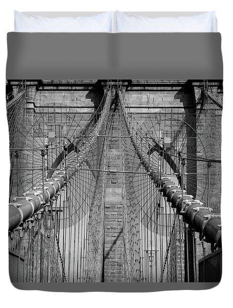 Duvet Cover featuring the photograph Brooklyn Bridge by Emmanuel Panagiotakis