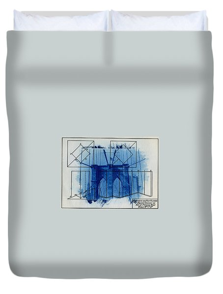 Brooklyn Bridge Duvet Cover by Jane Linders