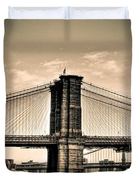 Brooklyn Bridge New York Duvet Cover