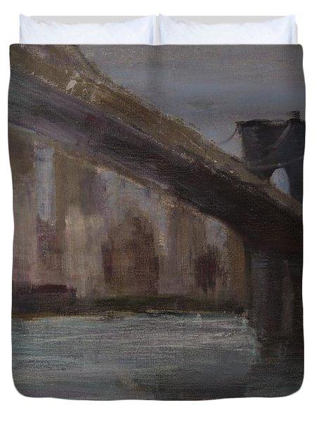 Brooklyn Bridge Painting Duvet Cover