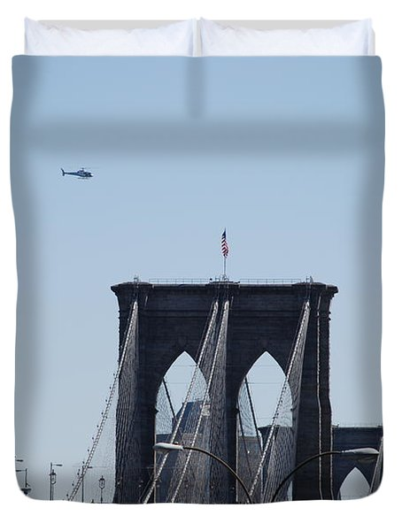 Brooklyn Bridge Duvet Cover by Rob Hans