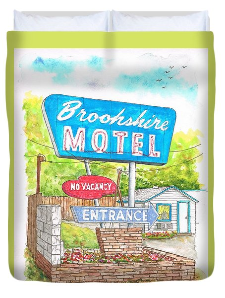 Brookshire Motel In Route 66, Tulsa, Oklahoma Duvet Cover