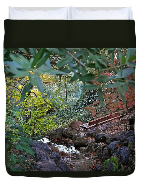 Brookside Hideaway Duvet Cover by Michele Myers