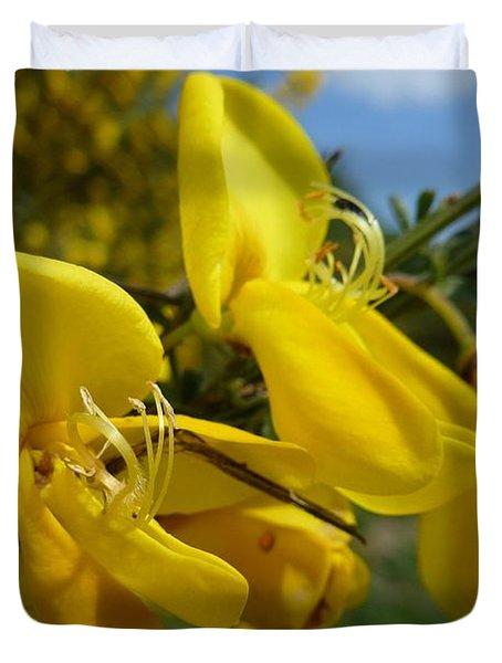 Broom In Bloom 3 Duvet Cover
