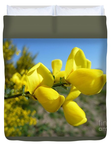 Broom In Bloom 4 Duvet Cover