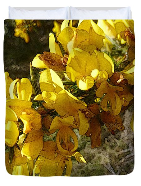 Broom In Bloom Duvet Cover