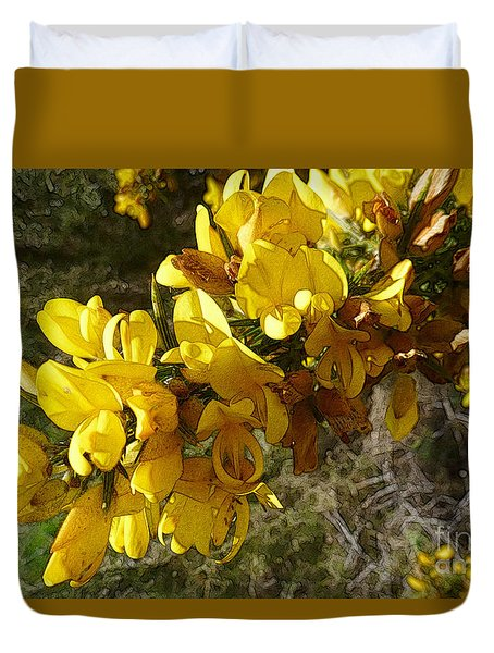 Broom In Bloom Duvet Cover