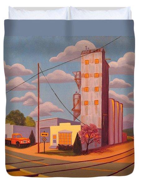 Broomfield Grain Elevator Duvet Cover