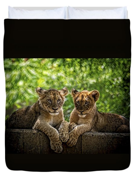 Brothers Chillin Duvet Cover
