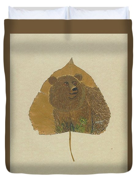 Brow Bear #2 Duvet Cover by Ralph Root