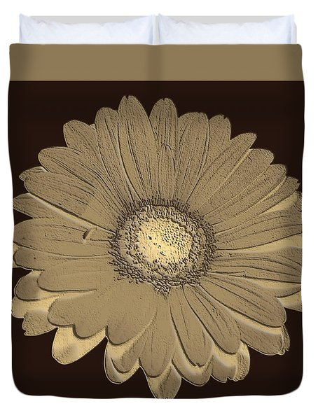 Duvet Cover featuring the digital art Brown Art by Milena Ilieva