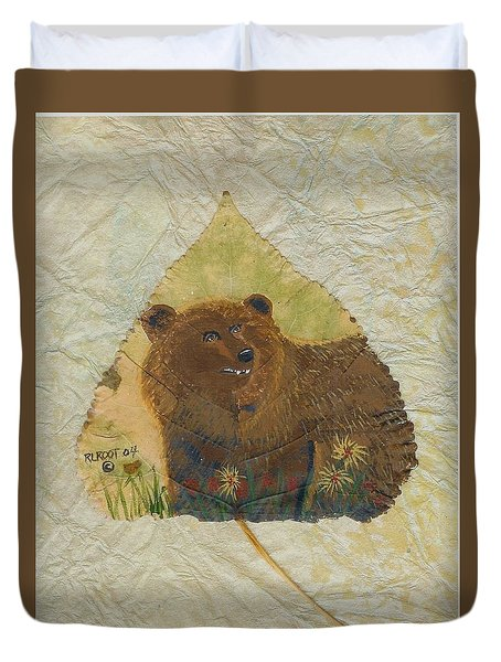 Brown Bear Duvet Cover by Ralph Root