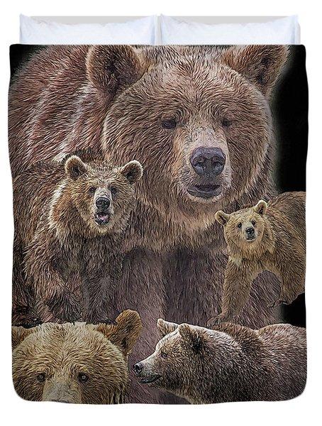 Brown Bears 8 Duvet Cover