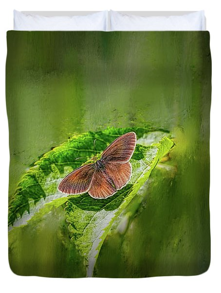 Brown Butterfly #h6 Duvet Cover