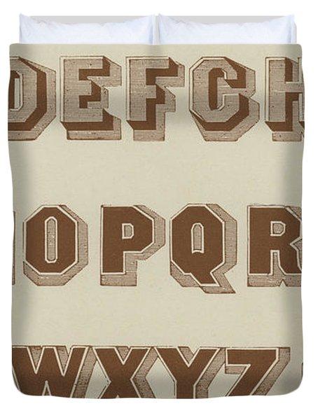 Brown Egyptian Shaded Vintage Font Duvet Cover