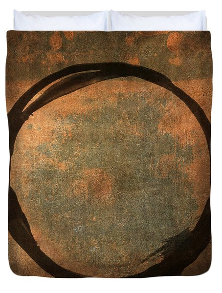 Brown Enso Duvet Cover