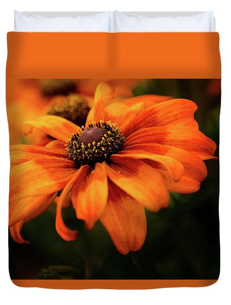 Duvet Cover featuring the photograph Brown Eyed Susan by Mary Jo Allen
