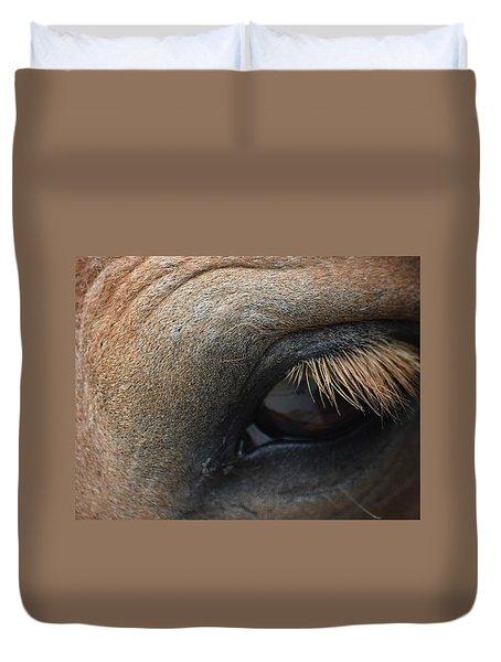 Brown Horse Eye Duvet Cover