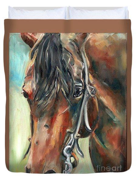 Brown Horse Head Duvet Cover