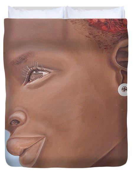 Brown Introspection Duvet Cover