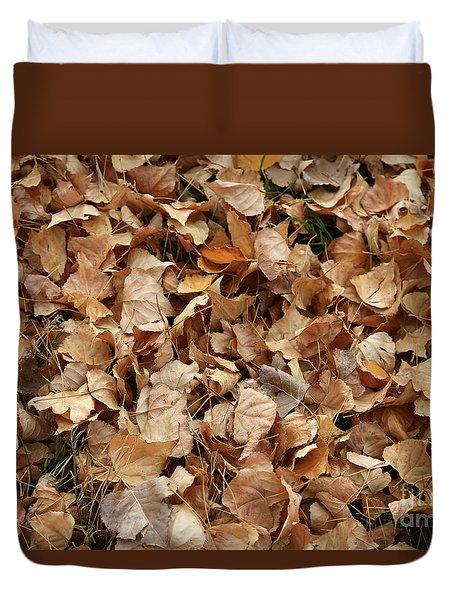 Brown Leaf Carpet Duvet Cover