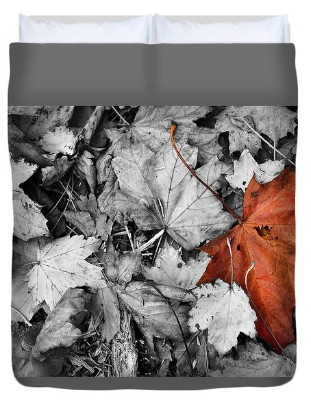 Brown Maple Leaf Duvet Cover