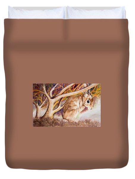 Brown Rabbit Duvet Cover