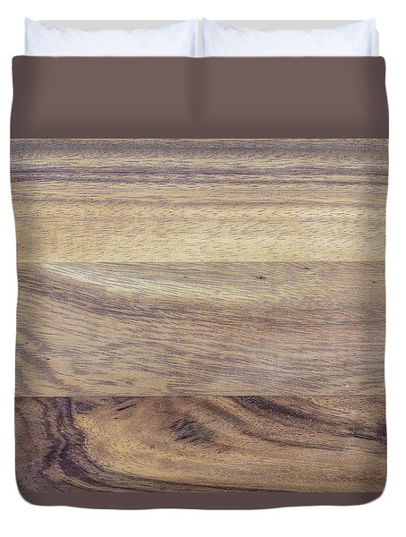 Brown Rubber Wooden Tray Handmade In Asia Duvet Cover by Jingjits Photography