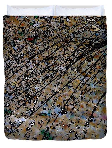 Brown Splatter Duvet Cover
