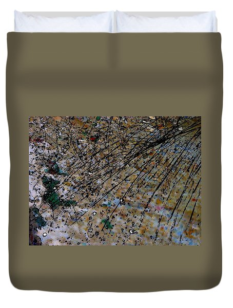 Duvet Cover featuring the photograph Brown Splatter by Richard Ricci